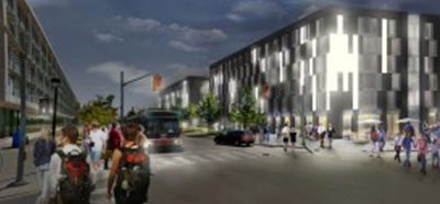 Rendering of the new Quad Residence at York U