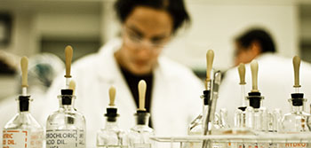 Student in a lab