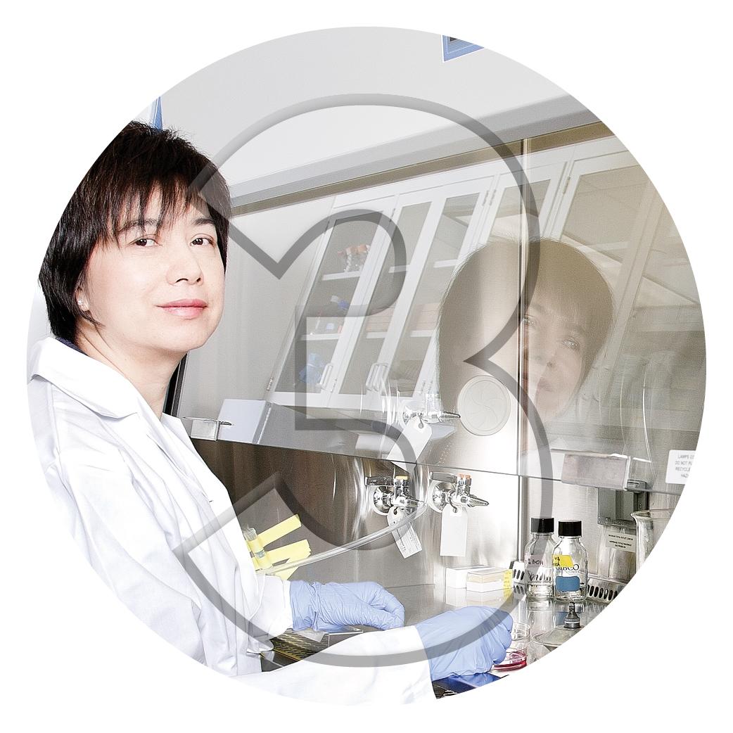 York U researcher in a lab