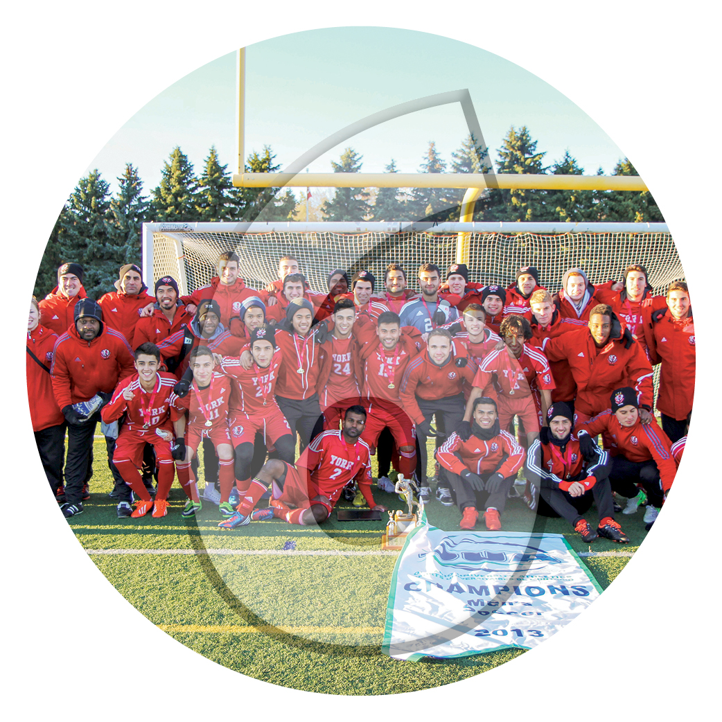 York U Lion's mens soccer team