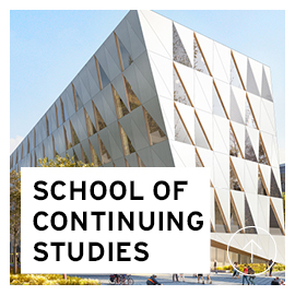 The design concept image of future building for the School of Continuing Studies, courtesy of Perkins+Will.
