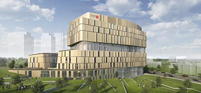 Rendering of York University's new Markham Centre Campus