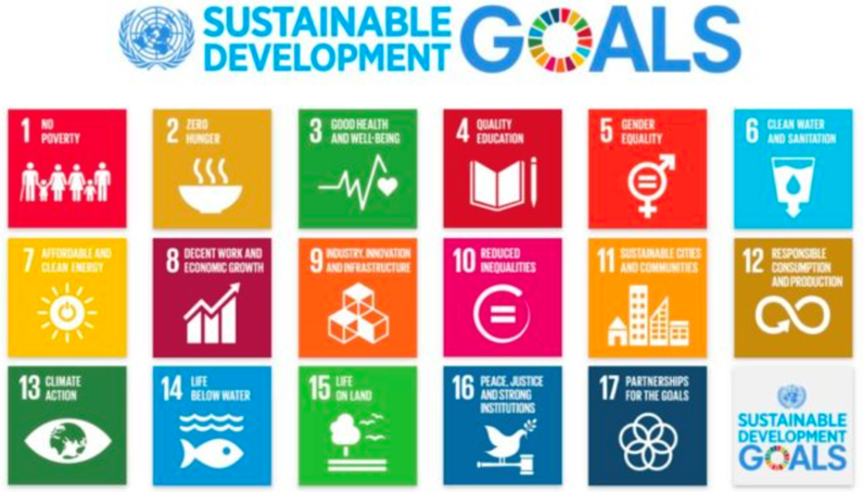grid of UN sustainability goals